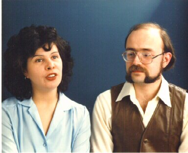 Nancy Kress and Jeff Duntemann in 1982